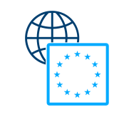 EU Controlled Goods Classification Small Light Blue Icon