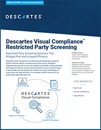 Restricted and Denied Party Screening Solutions Icon